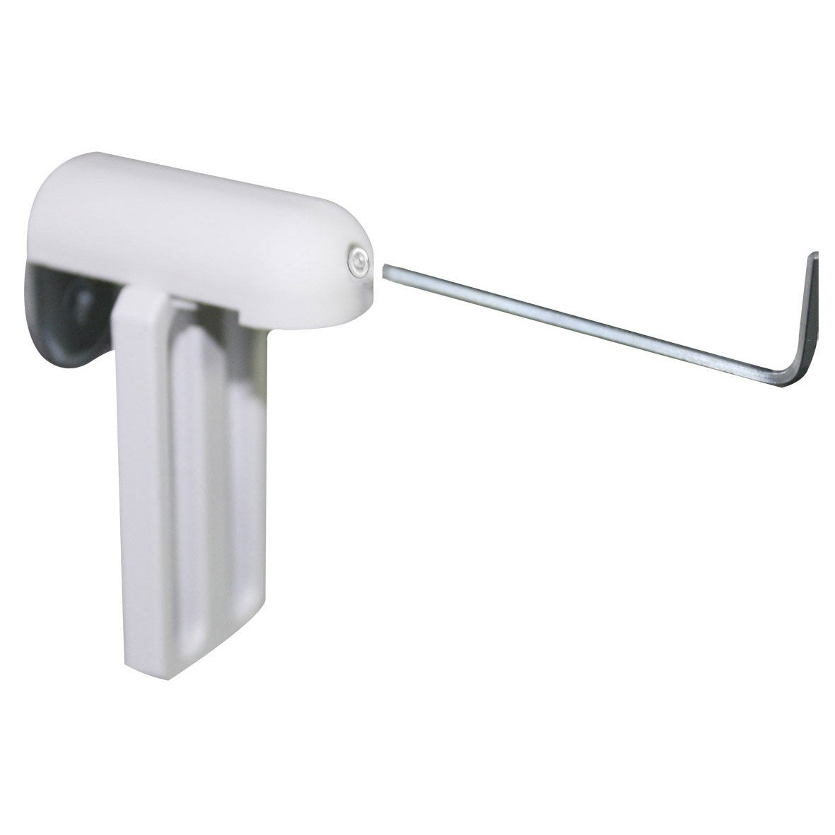 Lot de 2 supports de fixation sans per age inspire blanc for Tablette salle de bain sans percer
