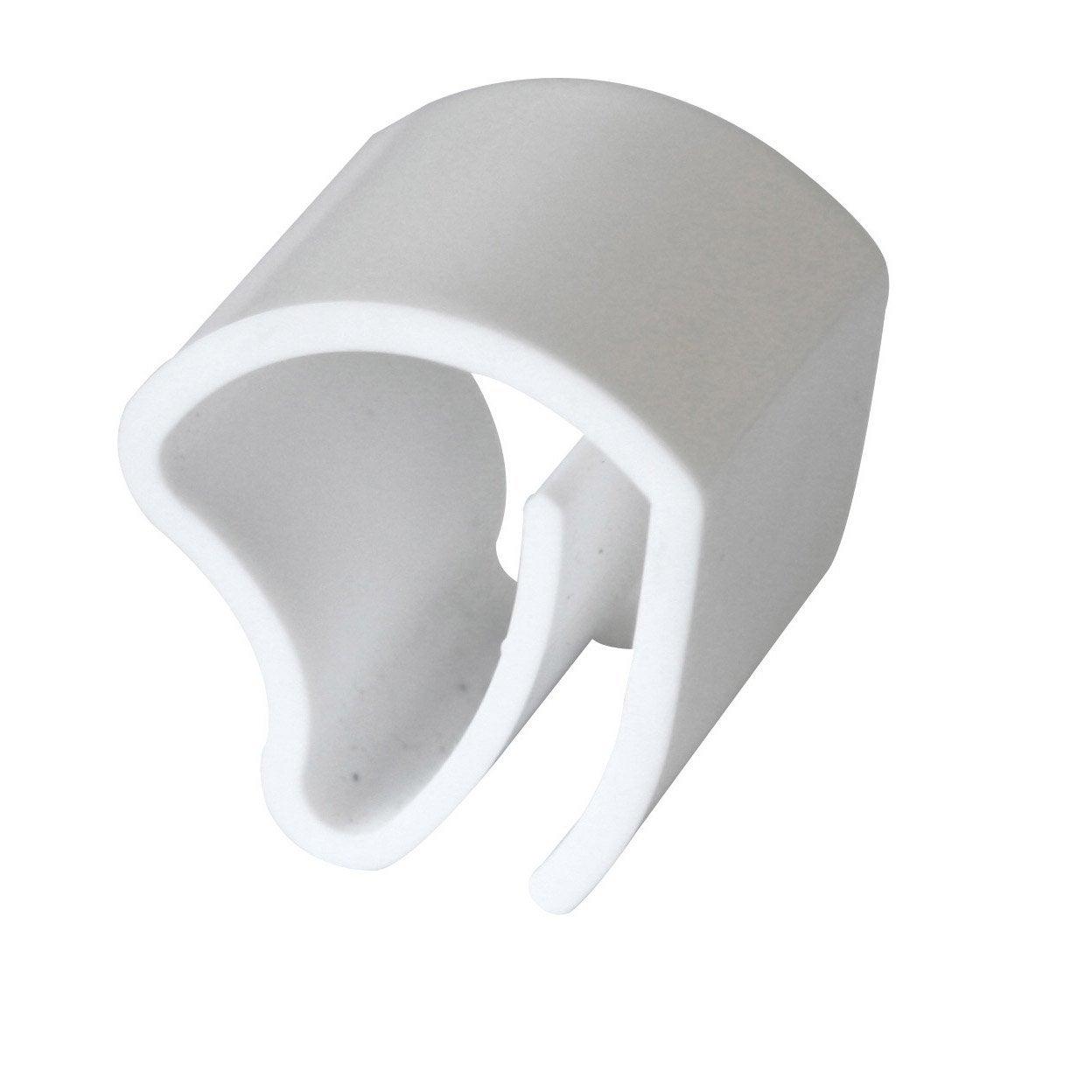 lot de 3 supports de fixation inspire aluminium leroy merlin. Black Bedroom Furniture Sets. Home Design Ideas