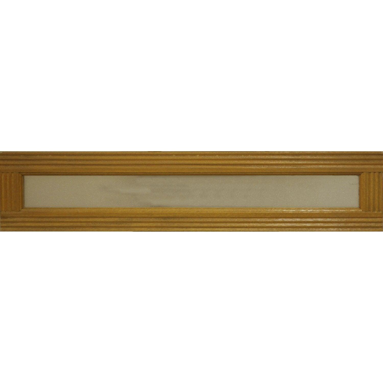 Imposte vitrée pour porte d'entrée H 215 cm bois exotique ARTENS Leroy Merlin # Tasseau Bois Exotique Leroy Merlin