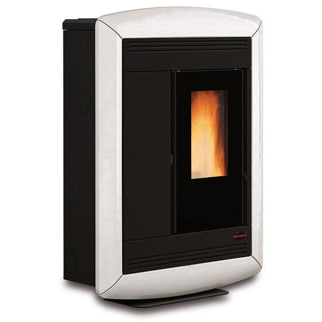 po le granul s extraflamme souvenir lux blanc 11 kw leroy merlin. Black Bedroom Furniture Sets. Home Design Ideas