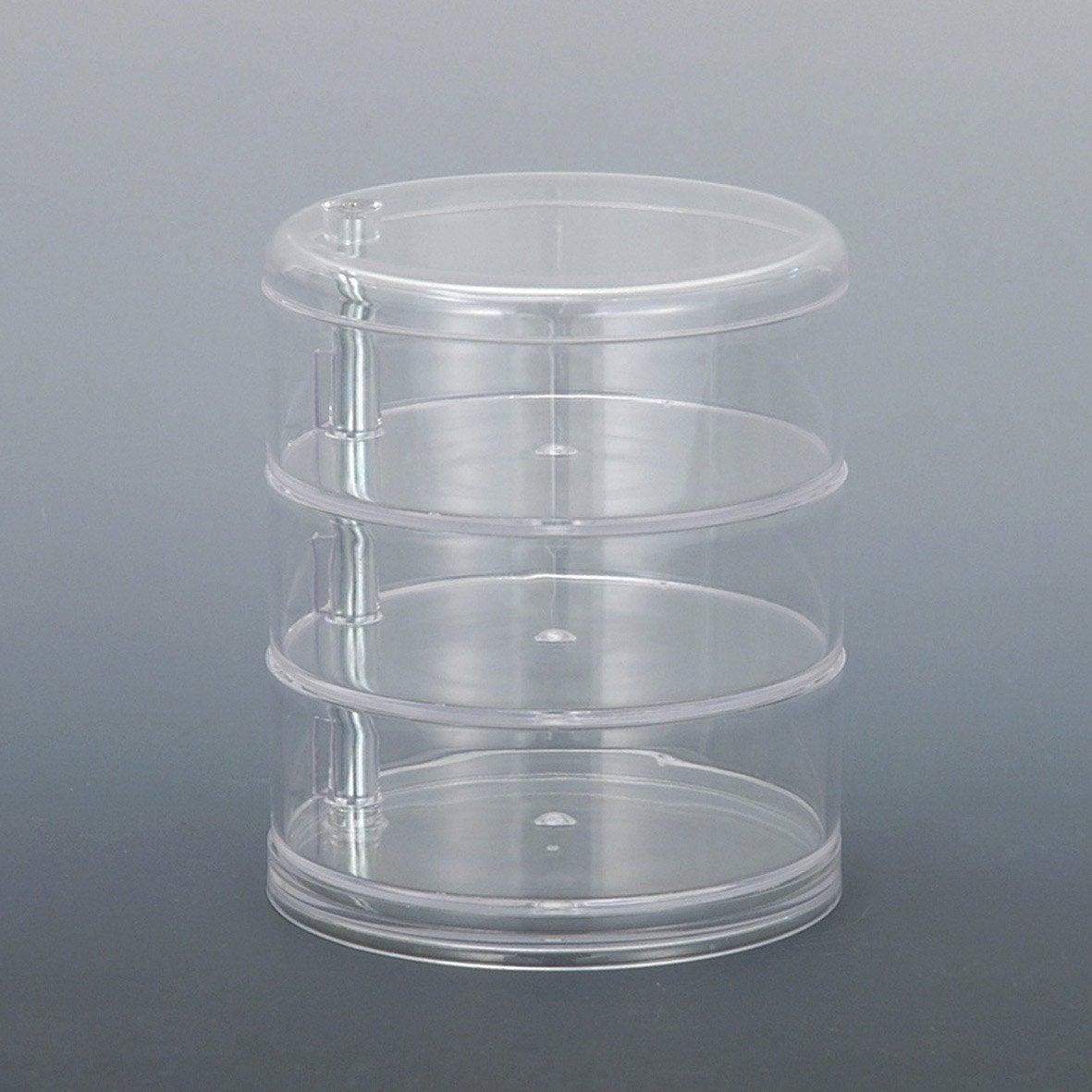 Boite de rangement beauty 3 niveaux pivotants transparent - Leroy merlin boite rangement ...