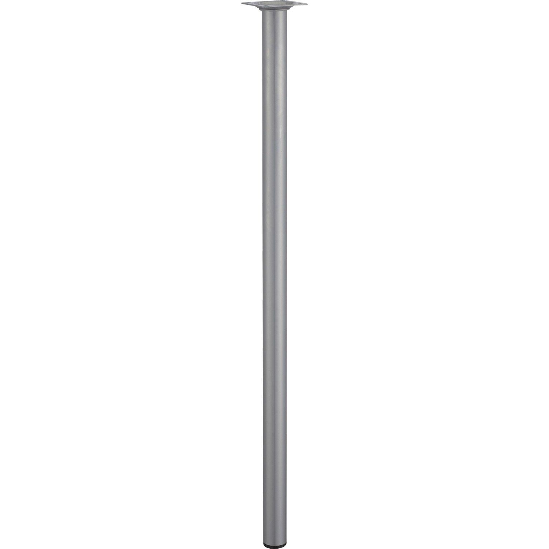 Pied de table basse cylindrique fixe acier mat gris 70 cm - Pieds de table leroy merlin ...
