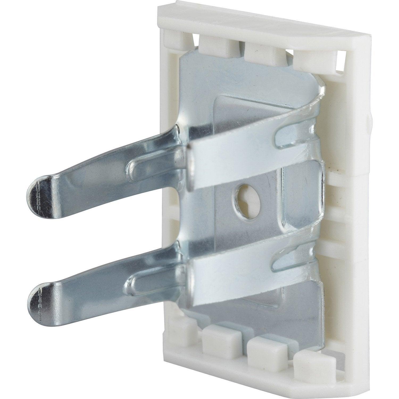 lot de 8 clips métal à clipser, diam.28 x h.55 mm x l.28 mm ... - Fixation Meuble De Cuisine