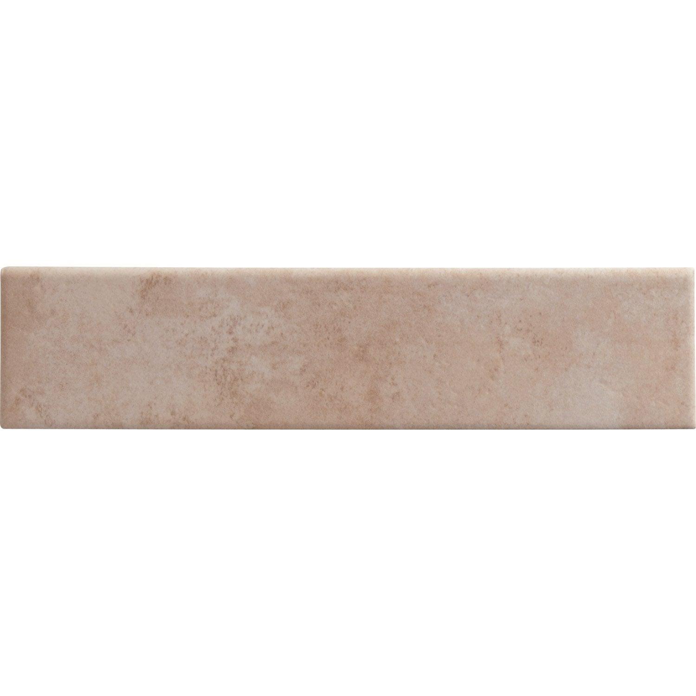 Lot de 3 plinthes denia rose l 8 x cm leroy merlin for Peinture plinthe carrelage