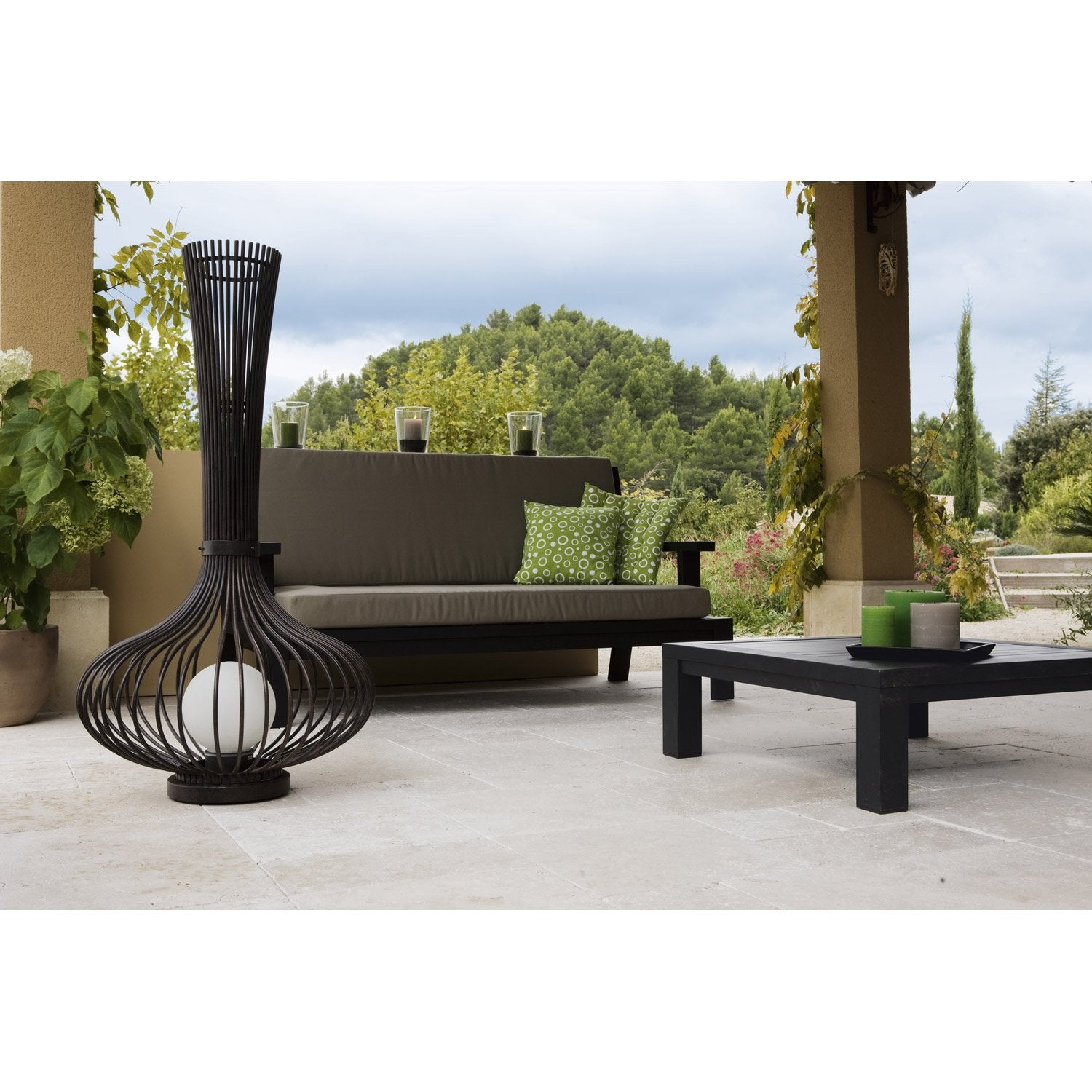 lampe de jardin ext rieure lorena e27 100 w brun eglo. Black Bedroom Furniture Sets. Home Design Ideas