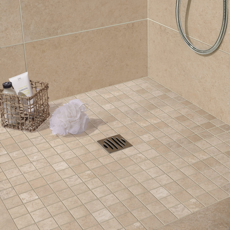 Carrelage sol et mur beige effet pierre tivoli x for Carrelage salle de bain aspect pierre