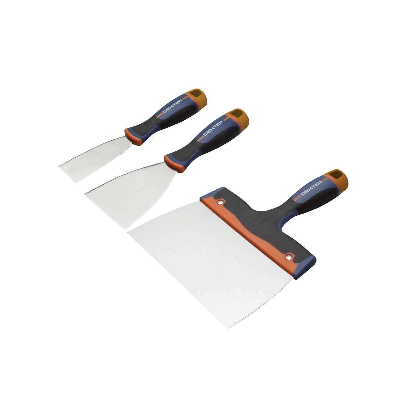 Lot de 3 couteaux enduire acier inoxydable leroy merlin for Panneau exterieur a enduire