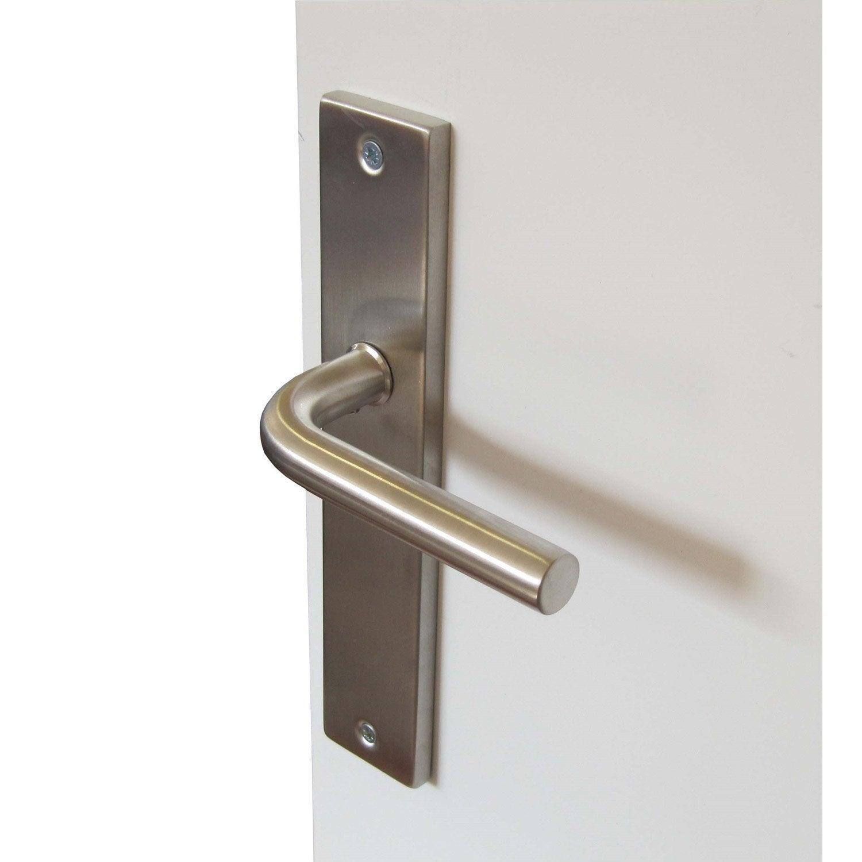 2 poign es de porte carre sans trou acier inoxydable 195. Black Bedroom Furniture Sets. Home Design Ideas