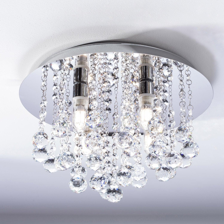 Plafonnier almonte led 4 x 2 5 w g9 blanc chaud leroy merlin - Plafonnier design salle de bain ...