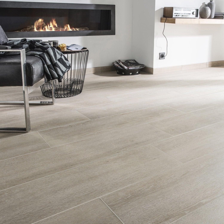 carrelage sol et mur chene naturel effet bois lodge x cm leroy merlin. Black Bedroom Furniture Sets. Home Design Ideas
