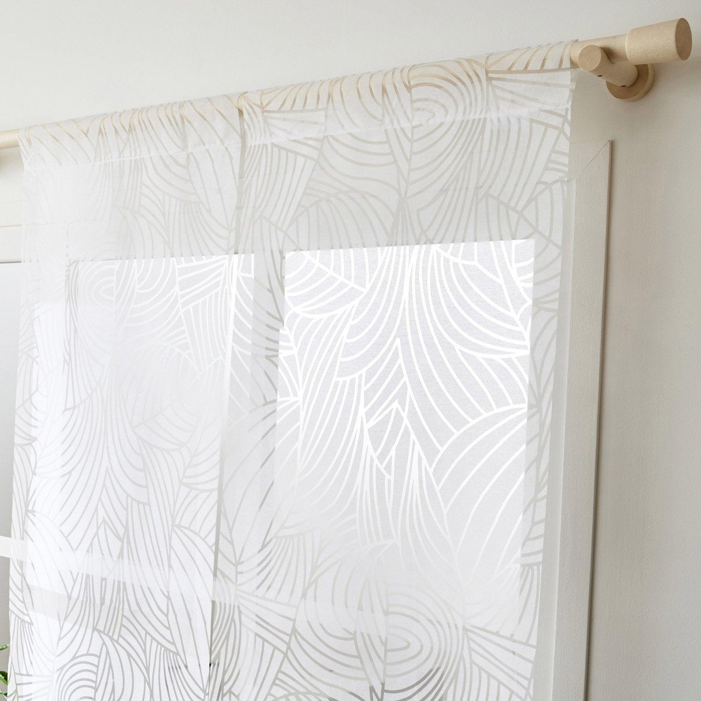 panneau japonais feuillage blanc x cm leroy merlin. Black Bedroom Furniture Sets. Home Design Ideas