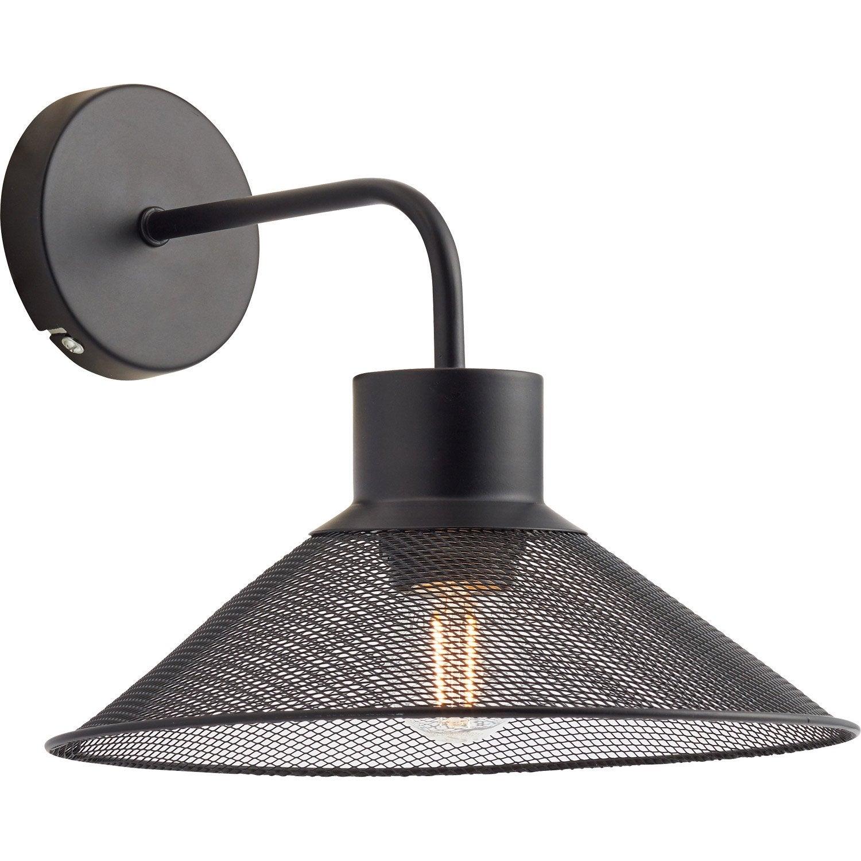 applique e27 torino metal noir 1 seynave Résultat Supérieur 15 Beau Applique Luminaire Interieur Stock 2017 Kae2