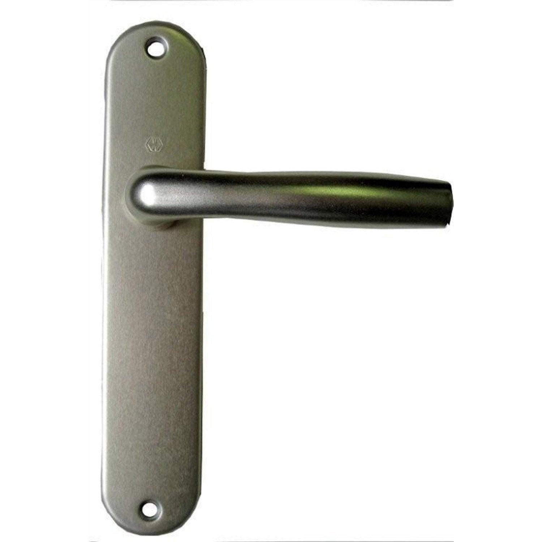 2 poign es de porte roissy sans trou aluminium 165 mm leroy merlin - Poignees de porte leroy merlin ...