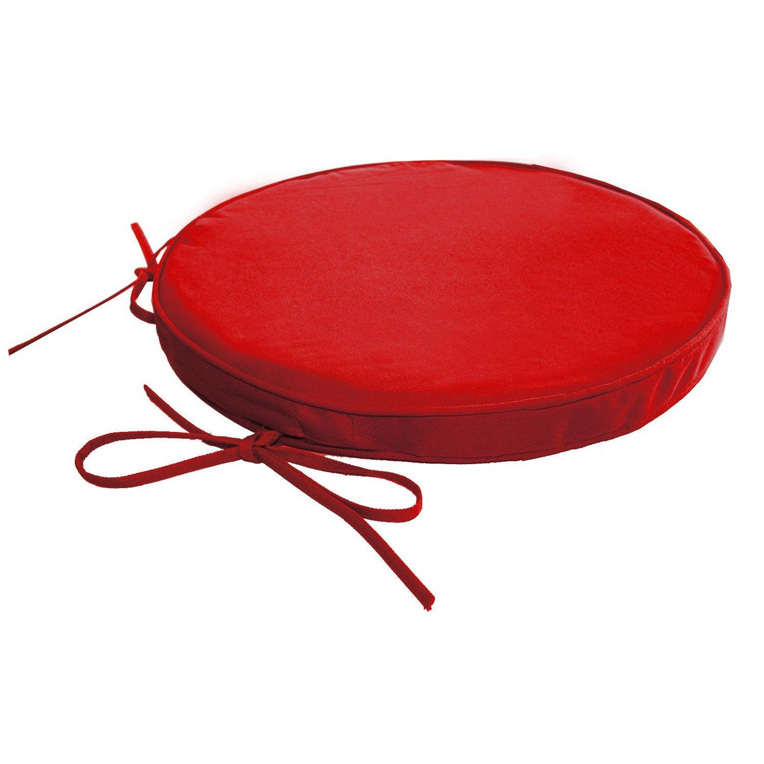 Coussin de chaise rond rouge table de lit for Galette de chaise rectangulaire