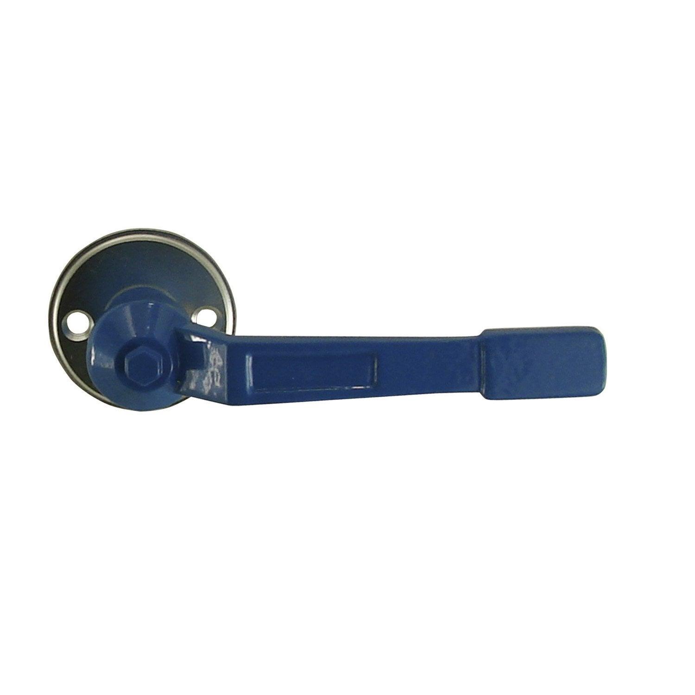 Poign e de porte en aluminium epoxy s rie vannes leroy merlin - Poignet de porte leroy merlin ...