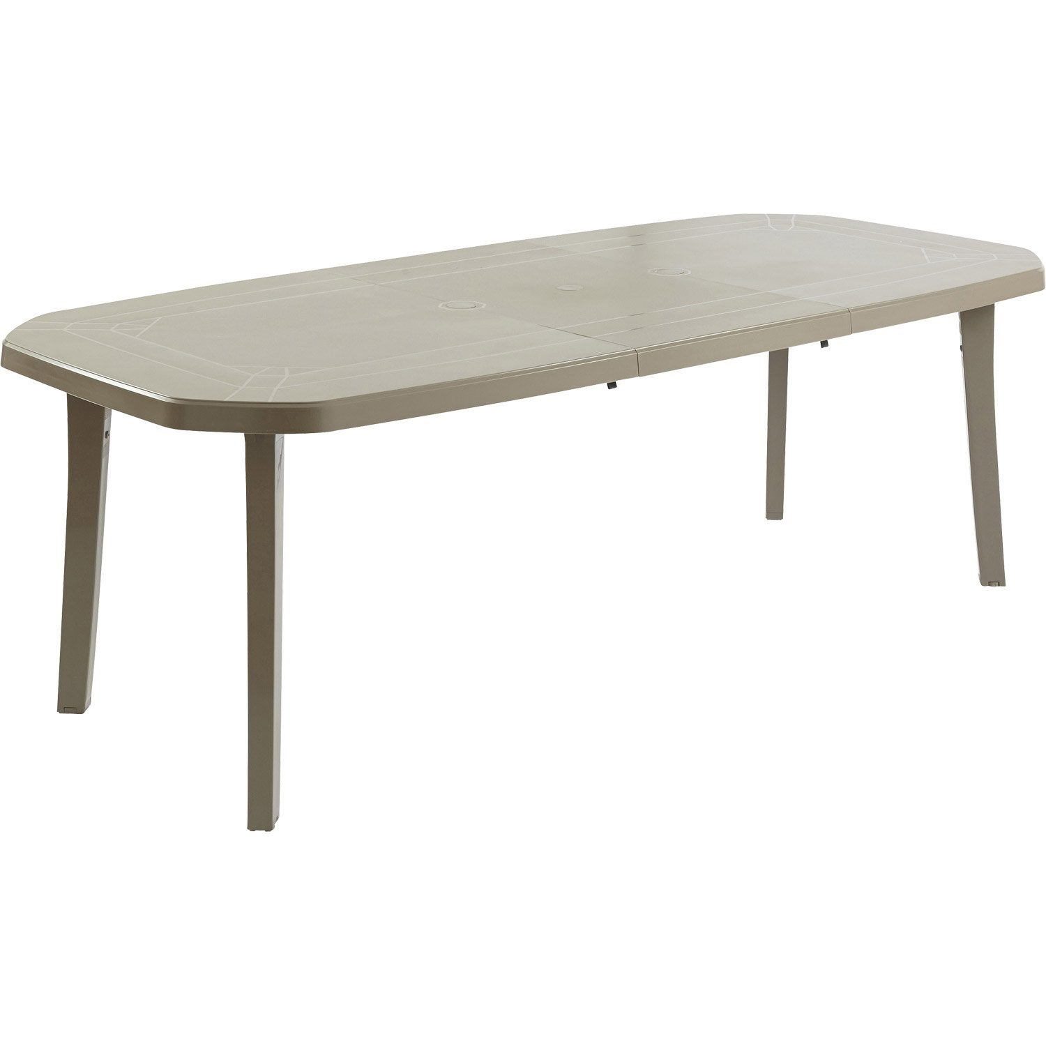 Table de jardin grosfillex miami rectangulaire taupe 10 for Bache salon de jardin leroy merlin