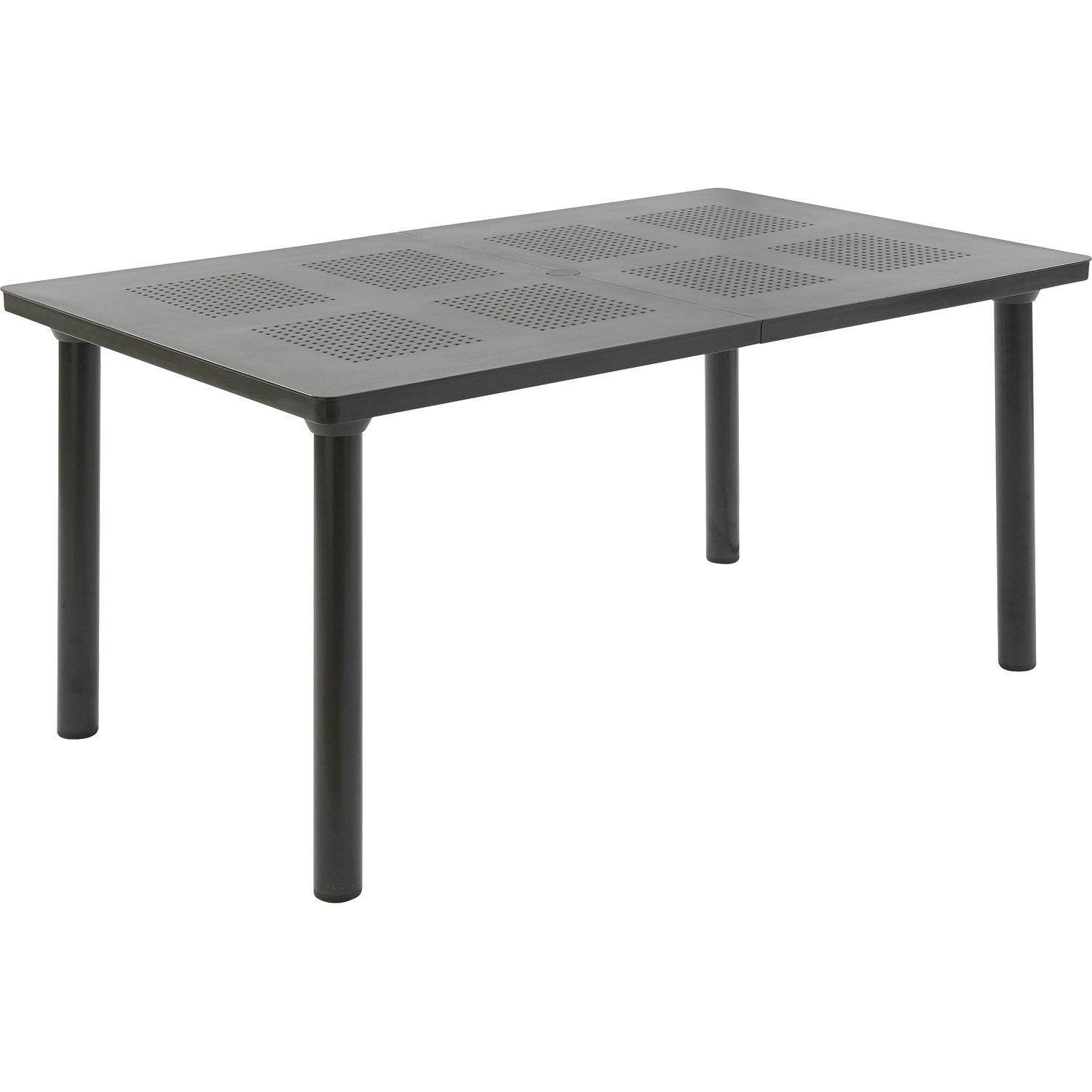 Table de jardin en r sine libeccio gris antracithe nardi for Table exterieur carrefour