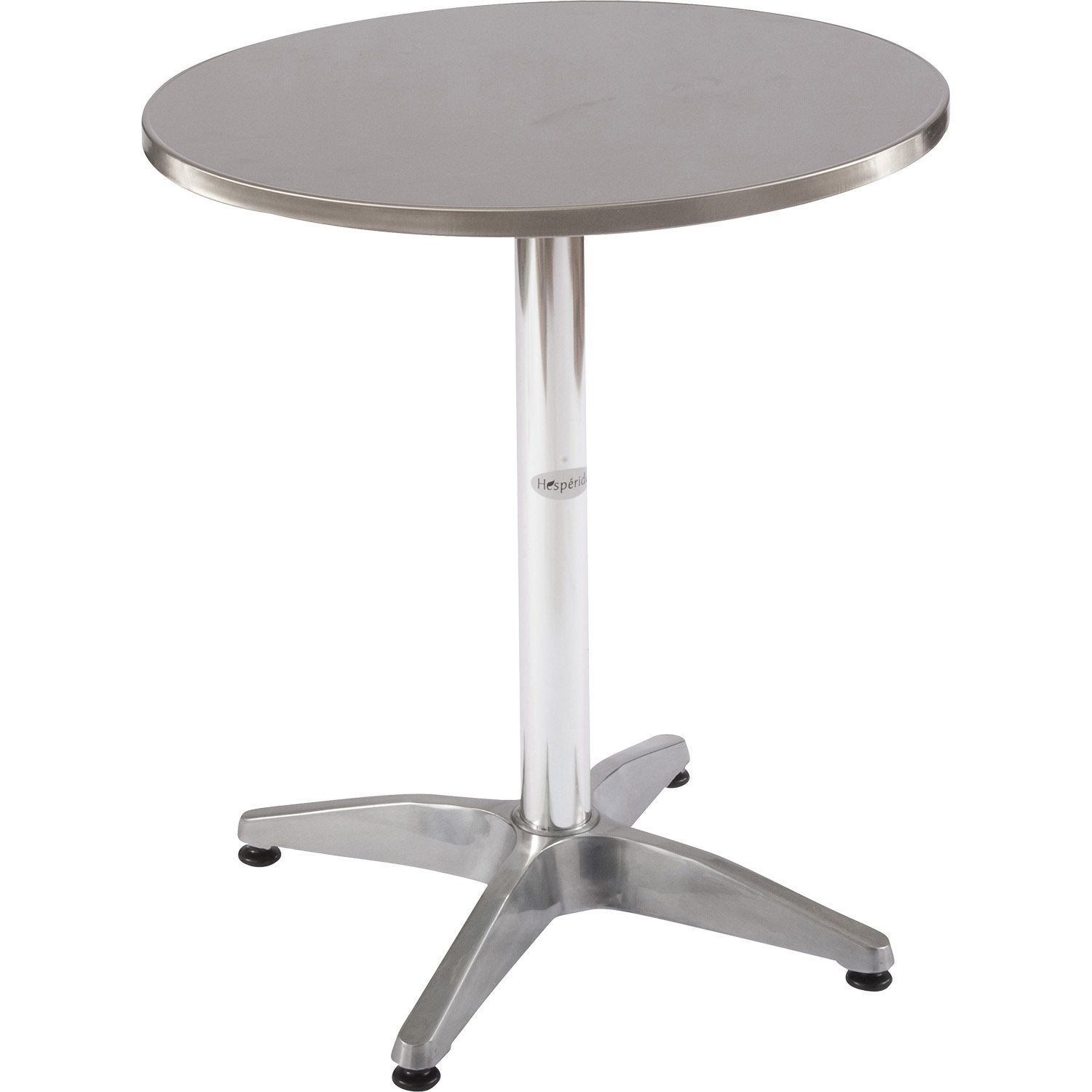 Table basse cuidadella ronde gris 2 personnes leroy merlin for Table exterieur 2 personnes