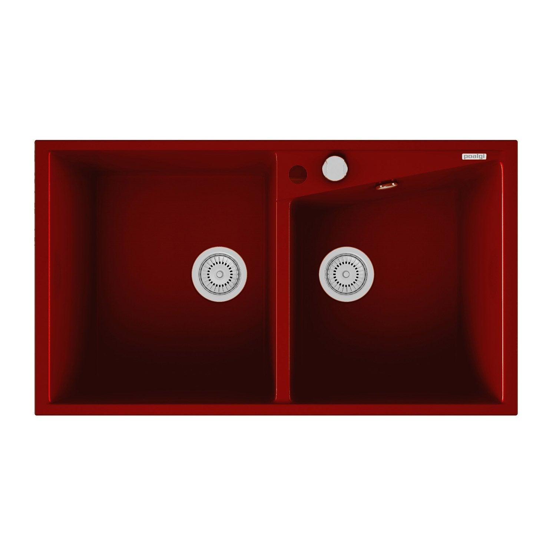 evier encastrer quartz et r sine bordeaux kuma 2 bacs leroy merlin. Black Bedroom Furniture Sets. Home Design Ideas