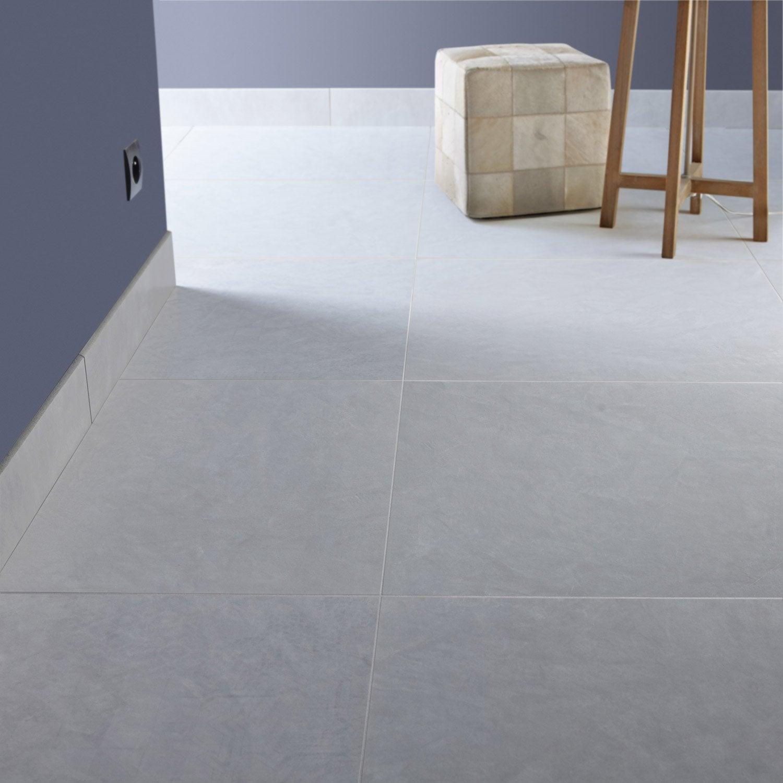 Carrelage sol et mur fer blanc effet b ton studio x cm leroy merlin - Fer a beton leroy merlin ...