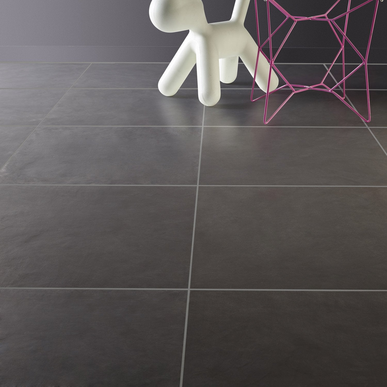 carrelage sol et mur fonte effet b ton studio x cm leroy merlin. Black Bedroom Furniture Sets. Home Design Ideas