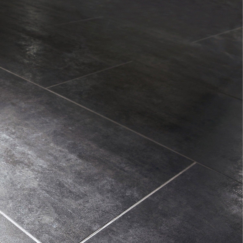 Carrelage sol et mur noir effet b ton factory x for Beton hydrofuge leroy merlin