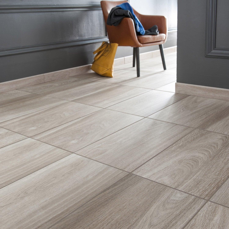 carrelage sol et mur naturel effet bois quebec x cm leroy merlin. Black Bedroom Furniture Sets. Home Design Ideas