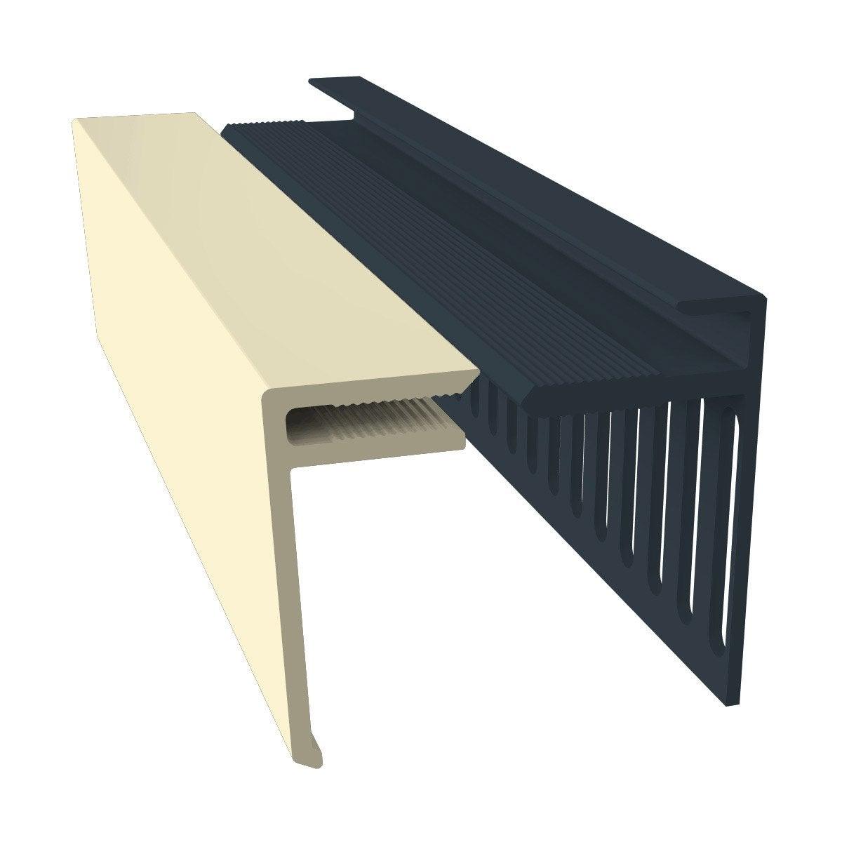 excellent lot de profils de dpart et duarrt pvc freefoam faza solid crme with tole de bardage. Black Bedroom Furniture Sets. Home Design Ideas