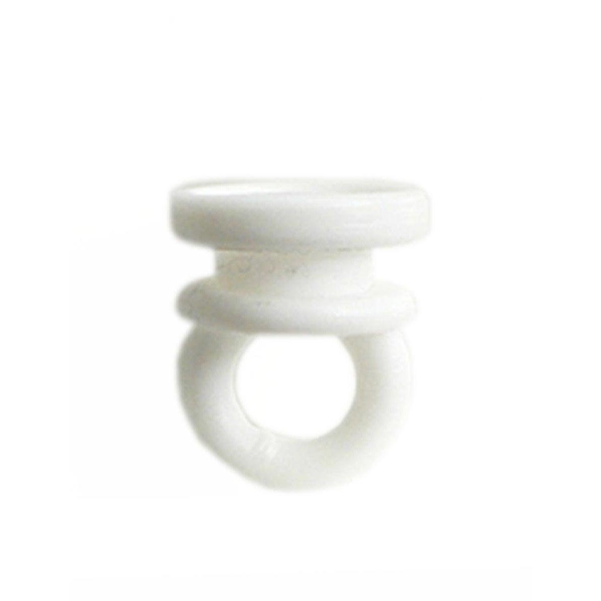 lot de 10 curseurs en plastique blanc bi rail l 2 cm leroy merlin. Black Bedroom Furniture Sets. Home Design Ideas