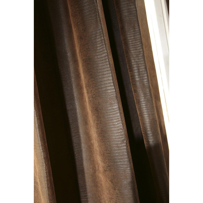 rideau occultant occultant reptile chocolat x cm leroy merlin. Black Bedroom Furniture Sets. Home Design Ideas