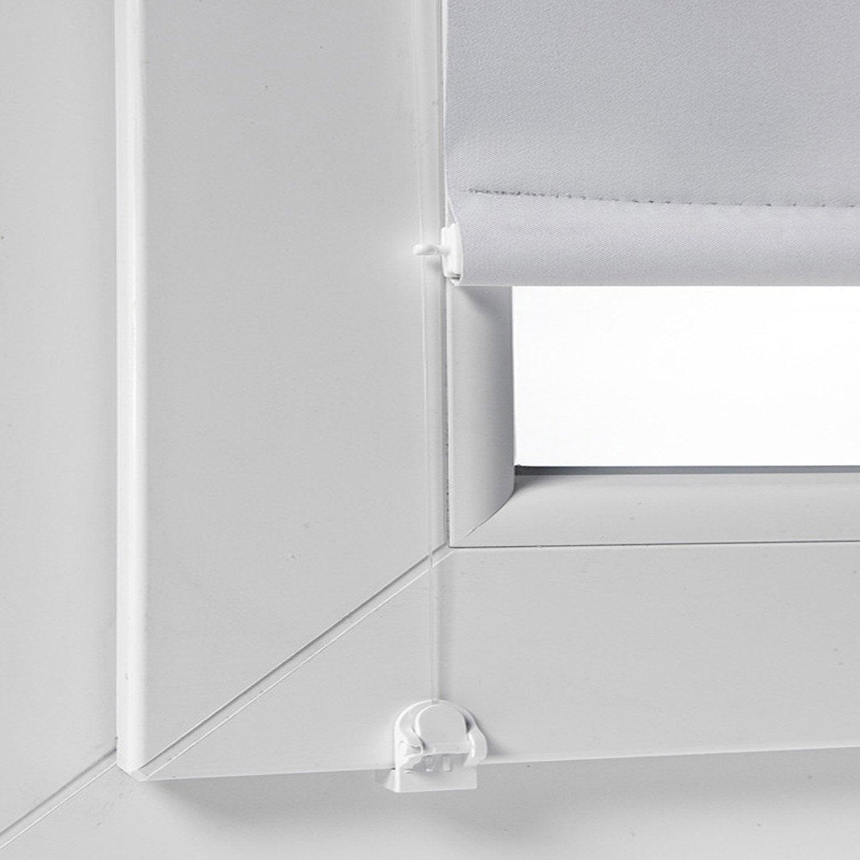 Kit de guidage lat ral blanc pour store enrouleur leroy for Poser une applique murale sans percer