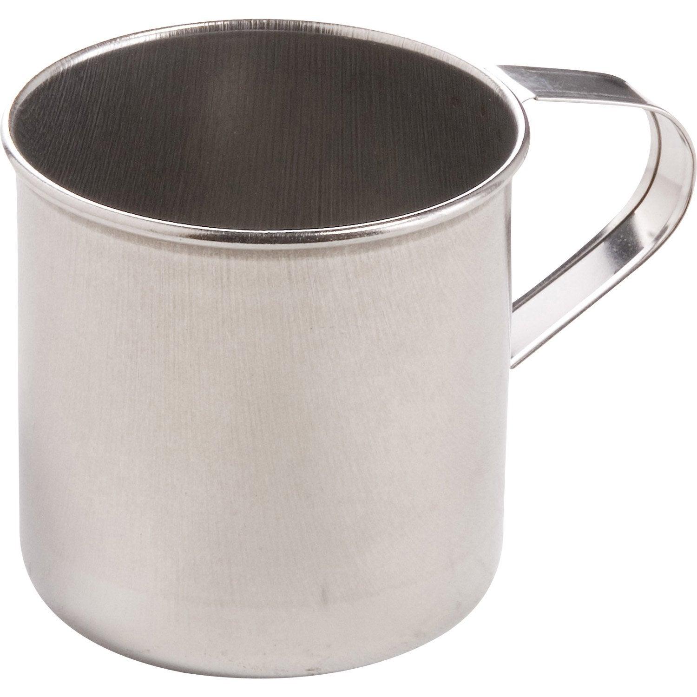 Mug inox pour plancha lemarquier agr10 leroy merlin for Table pour plancha inox
