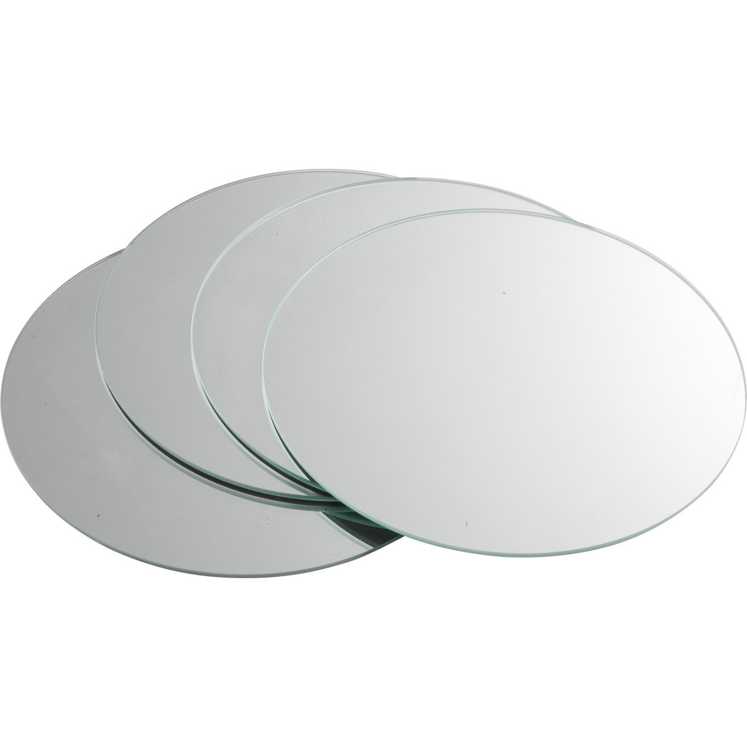 Lot de 4 miroirs non lumineux adh sifs ronds x - Miroir centre de table ...