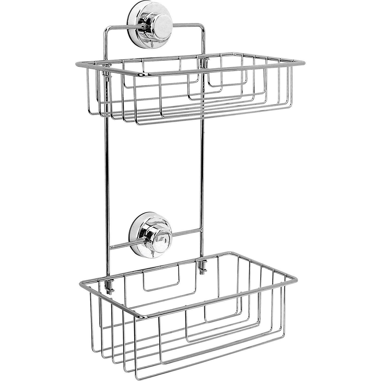 Etag re de bain douche d 39 angle ventouser chrom simply lock leroy merlin - Leroy merlin etagere salle de bain ...