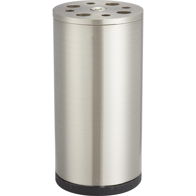 Pied de meuble cylindrique fixe acier bross gris 10 cm leroy merlin - Pied de meuble original ...