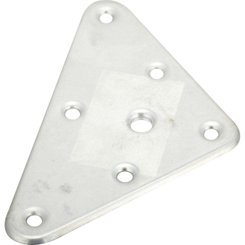plaque de montage triangulaire m tal visser x mm leroy merlin. Black Bedroom Furniture Sets. Home Design Ideas