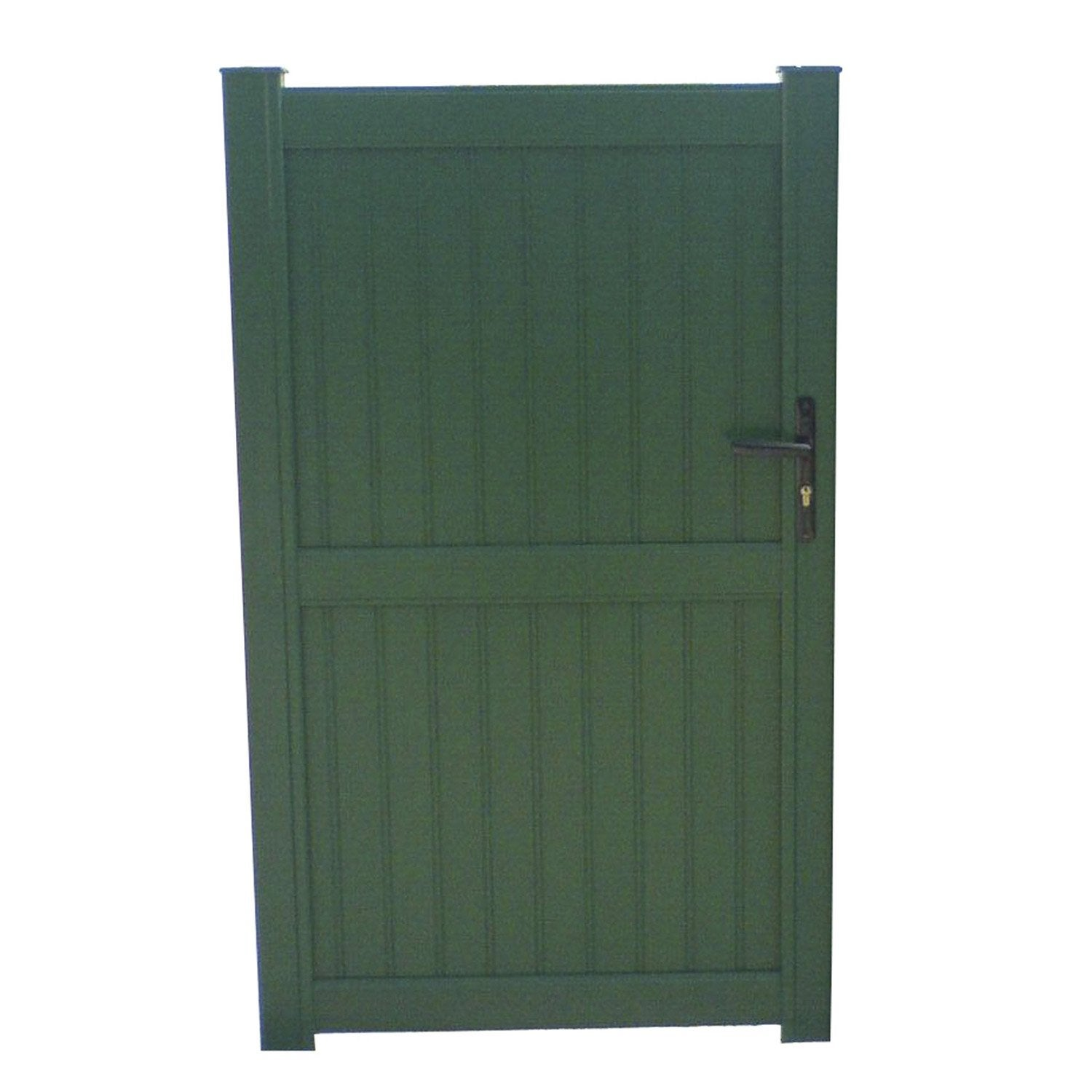 Portillon battant en aluminium noyal x cm for Portillon jardin alu