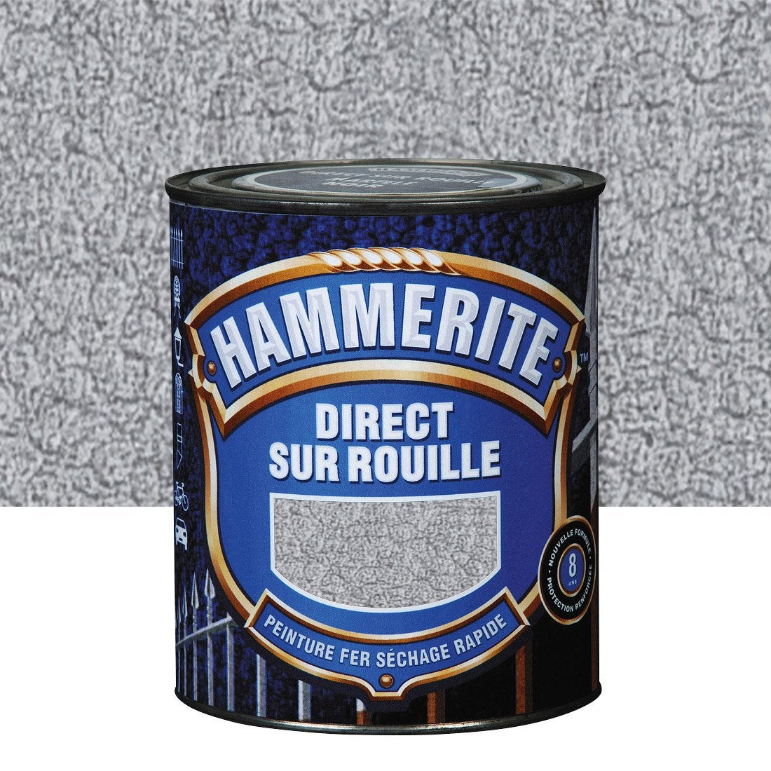 Peinture fer ext rieur hammerite gris argent l leroy merlin - Leroy merlin peinture fer ...