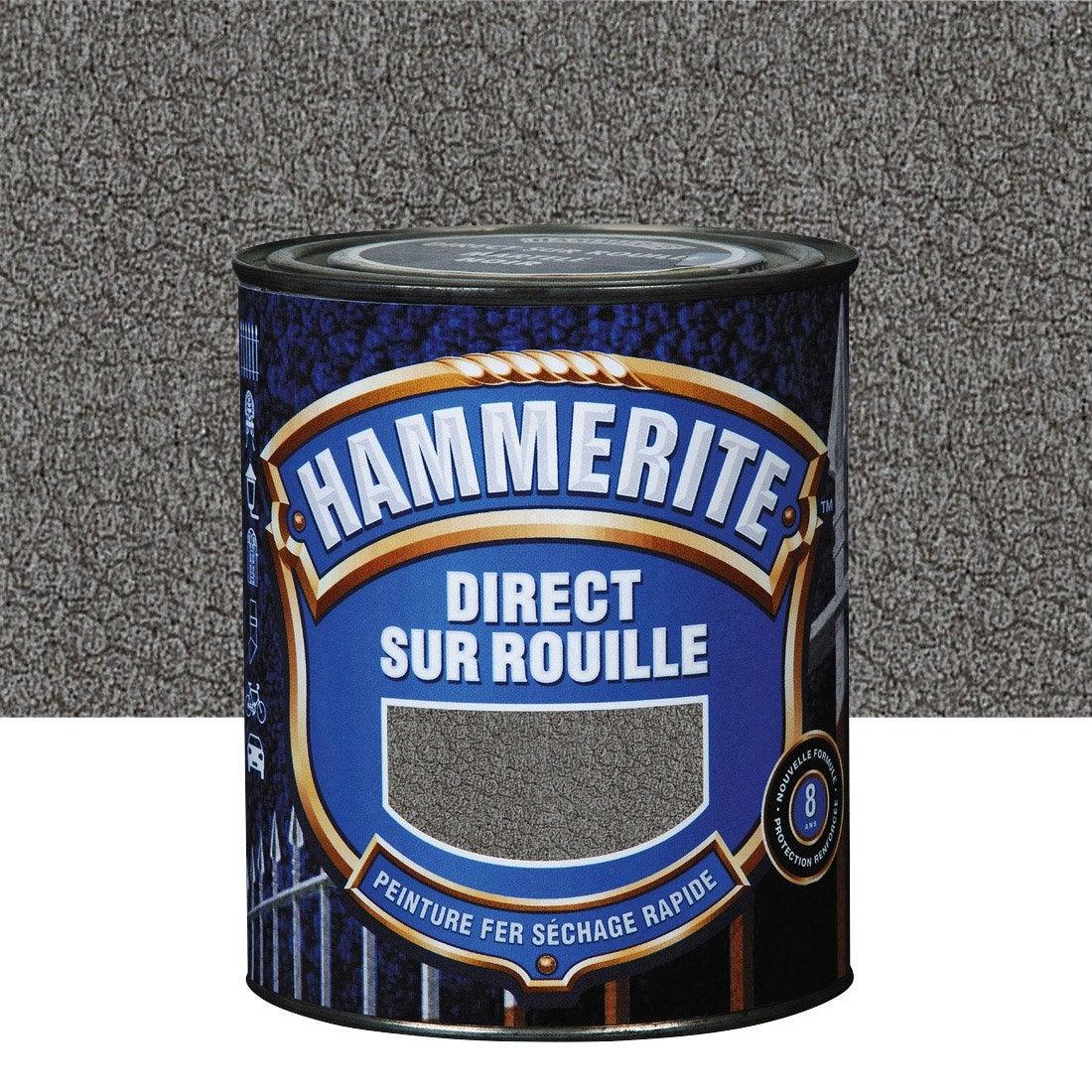 Peinture fer ext rieur hammerite gris ardoise l for Peinture facade gris ardoise