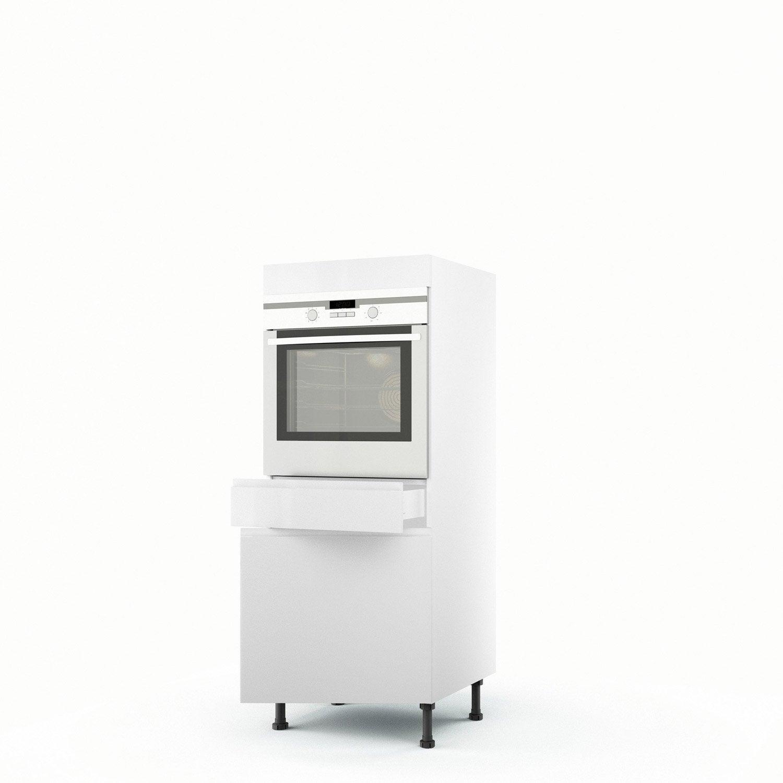 demi colonne blanc four 1 porte 1 tiroir graphic. Black Bedroom Furniture Sets. Home Design Ideas