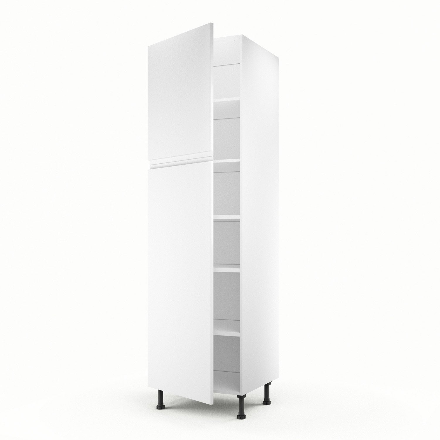 Meuble de cuisine colonne blanc 2 portes graphic x l for Portes elements cuisine leroy merlin