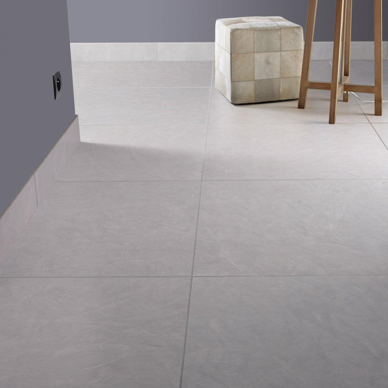 Carrelage sol et mur fer blanc reflex effet b ton studio x cm leroy merlin - Fer a beton leroy merlin ...