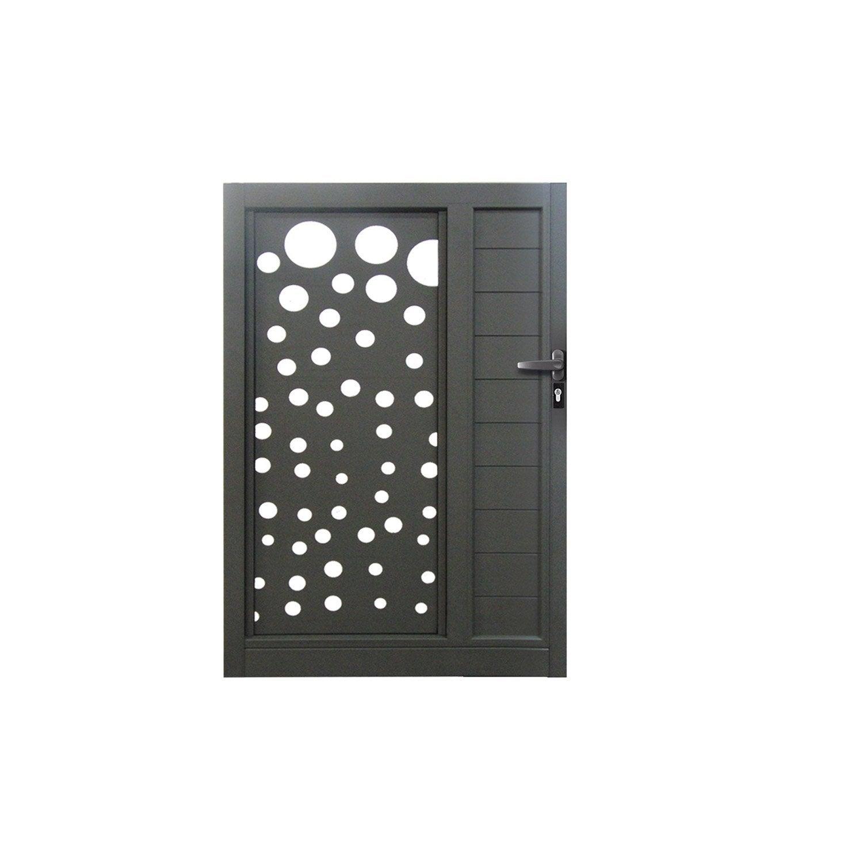 portillon battant excellence orval x cm existe en plusieurs coloris leroy merlin. Black Bedroom Furniture Sets. Home Design Ideas