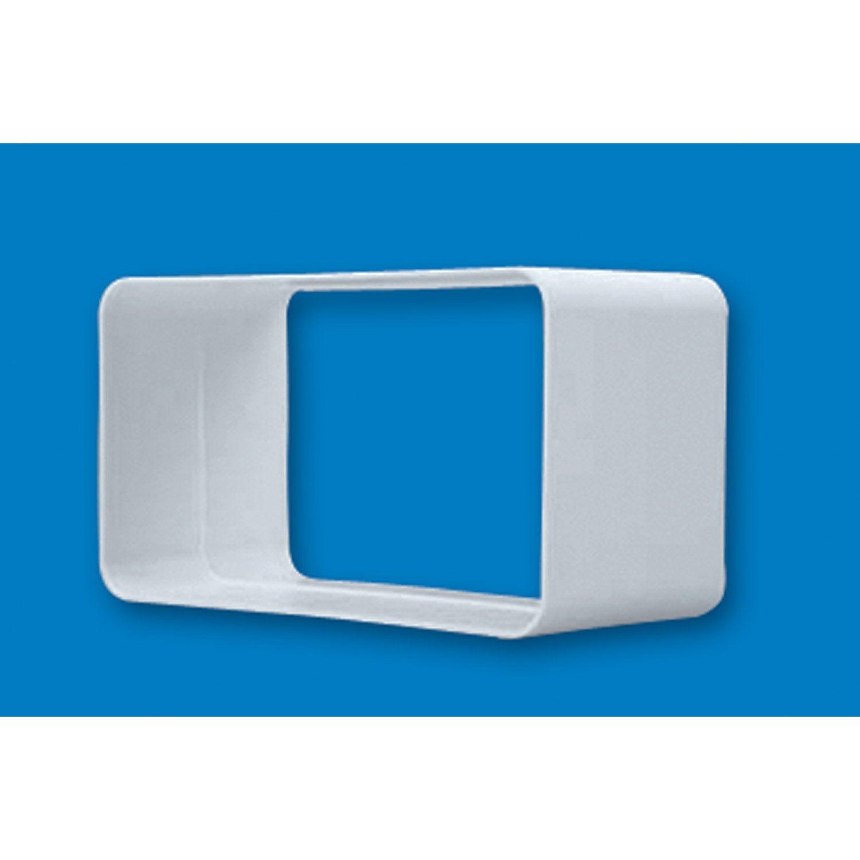 manchon rectangulaire rigide pvc s p mm mcr125 leroy merlin. Black Bedroom Furniture Sets. Home Design Ideas