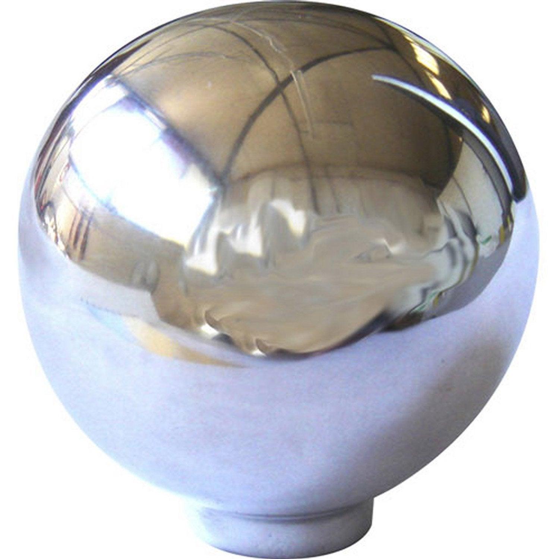Bouton de meuble boule aluminium poli leroy merlin - Bouton de meuble en verre ...
