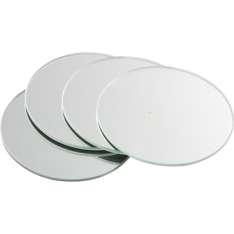 Lot de 4 miroirs non lumineux adh sifs ronds x for Miroir autocollant leroy merlin