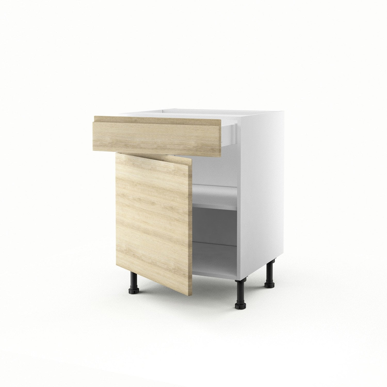 Demi colonne d cor ch ne blanchi four 3 tiroirs graphic - Demi colonne salle de bain leroy merlin ...