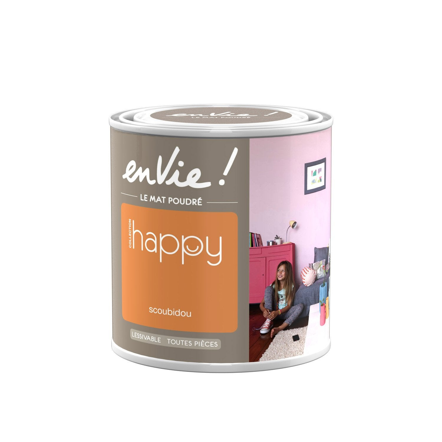 Peinture orange scoubidou luxens envie collection happy 0 5 l leroy merlin - Peinture envie leroy merlin ...