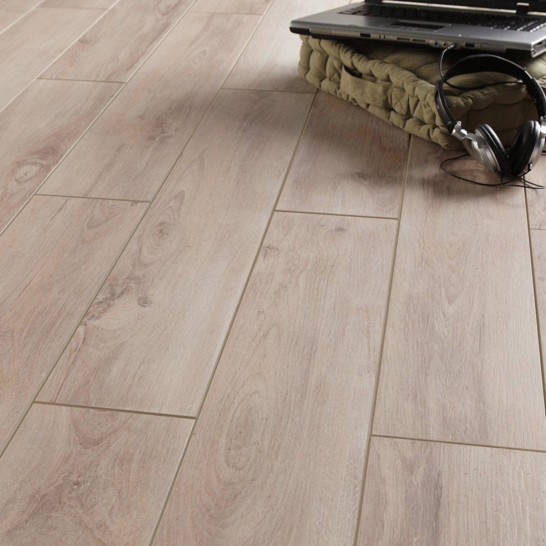 Carrelage sol et mur gris elite effet bois havana x l for Gres porcellanato carrelage