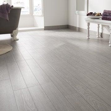 Carrelage sol et mur gris effet bois avoriaz x - Carrelage imitation bois blanc ...